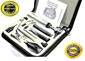 New Professional Ophthalmoscope otoscope Ent Nasal Larynx Diagnostic Set 4 Bulb