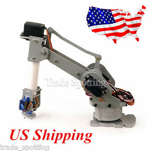 Diy 6 axis Servo Control Palletizing Robot Arm Model For Arduino Uno Mega2560 Us