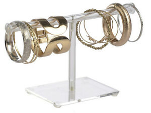 T bar Clear Acrylic Jewelry Display Bracelets Stand Chains Display Watch Rack