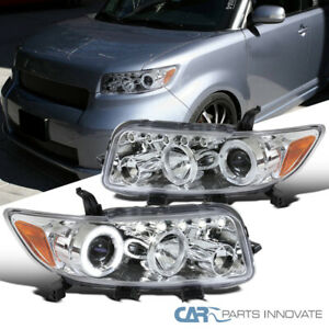 For Scion 08 10 Xb Clear Lens Led Halo Projector Headlights Head Lights Lamps