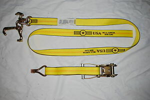2 Rtj Cluster Hook Ratchet Strap Hauler Wire Hook Tow Flatbed Trailer Tie Down