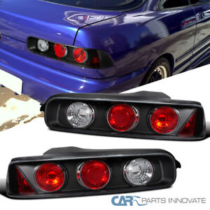 Fit Acura 94 01 Integra 2 3dr Black Tail Lights Brake Parking Lamps Left right