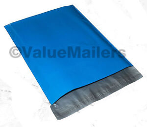 500 14 5x19 Blue Poly Mailers Shipping Envelopes Couture Boutique Quality Bags