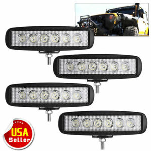 4pcs 6inch 72w Led Work Light Bar Spot Offroad Atv Fog Truck Lamp 4wd 12v 6