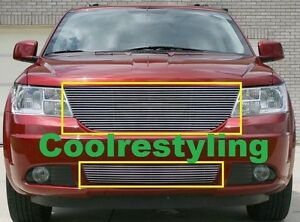 For 2010 Dodge Journey Polished Billet Grille Combo Inserts