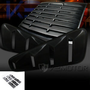 05 14 Mustang Gt 2dr Coupe Black Side Vent Rear Window Scoop Louver Cover