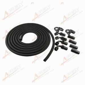 An16 16an Nylon Braided Oil fuel Hose Fitting Hose End Adaptor Kit