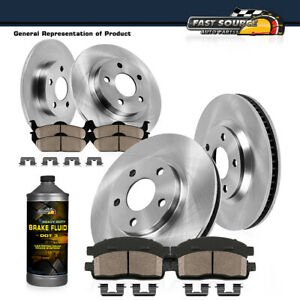 Front Rear Brake Rotors Ceramic Pads Fit Rx350 Rx450h Toyota Highlander Sienna