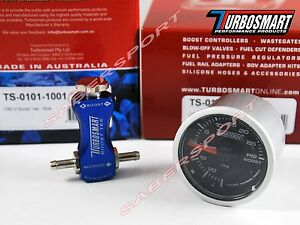 Turbosmart Boost Tee Blue Manual Turbo Boost Controller 52mm 0 30psi Gauge