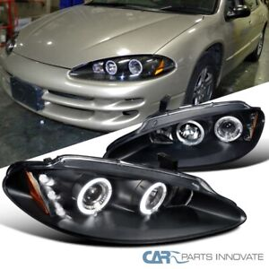 98 04 Dodge Intrepid Black Led Halo Projector Headlights Head Lamps Left right