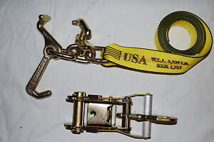 8 Rtj Frame Cluster Hook Ratchet Straps Fixed Snap Hook Tow Trailer Tie Down