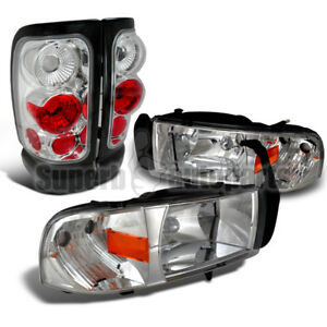 For 1994 2001 Dodge Ram 1500 2500 3500 Headlights tail Brake Lamps