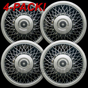 Buick Cadillac Oldsmobile Chrome Wire Hubcaps 15 inch Wheel Cover New Set Of 4