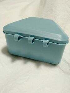 Denture Bath Cleaning Container Retainer Box Mouth Guard Storage Blue Free Ship