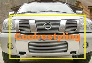 For 2004 2005 2006 2007 Nissan Titan Armada Billet Grille Combo Inserts