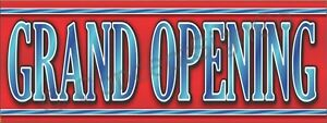 3 x8 Grand Opening Banner Large Outdoor Indoor Sign Sale Coming Now Open Soon