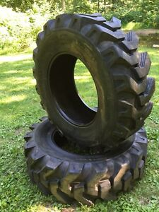 2 New 16 9 28 Solideal Backhoe Tires R4 Heavy Duty 12 Ply 16 9x28