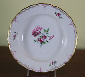 Collectors Cabinet Plate Hand Painted Delicate Antique Flowers