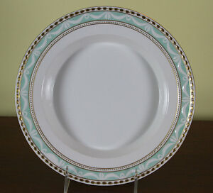 Collectors Cabinet Plate Hand Painted Gold Rim And Nuggets On Pale Green Fond