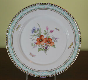 Collectors Cabinet Plate Hand Painted With Exquisite Antique Bouquets
