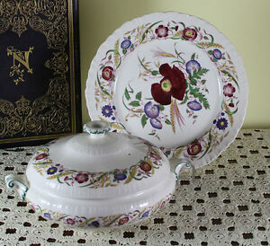 Collectors Cabinet Plate Entree Dish Cover Cornflower By Wedgwood