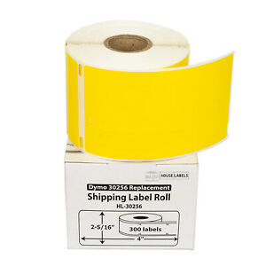 25 Rolls Of 300 Yellow Shipping Labels Dymo Labelwriters Lw 30256 Fast Ship