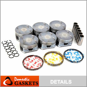Fit 03 10 Honda Odyssey Pilot Acura Mdx Saturn Vue Piston Set With Rings J35a4