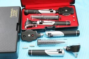 New Professional Led Mini Opthalmoscope Otoscope Fibre optic Diagnostic Set