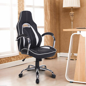 Homcom High Back Executive Racing Office Chair Swivel Computer Desk Seat