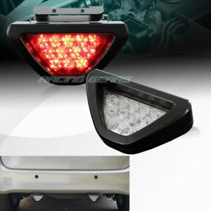 Universal F1 Style Triangle 12 Red Led Clear Len Third 3rd Brake Light Stop Lamp