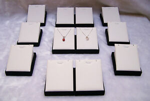 12pieces Jewelry Display Holder Rack For Necklace Pendant Exhibitor White Pu