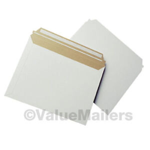 200 12 5 X 9 5 Self Seal White Photo Stay Flats Cardboard Envelope Mailers