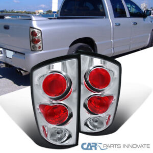 02 06 Dodge Ram 1500 2500 3500 Pickup Chrome Clear Tail Lights Rear Brake Lamps