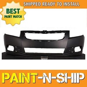 New 2011 2012 2013 2014 Chevy Cruze W Grill Insert Front Bumper Painted