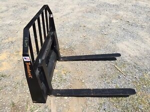 New Pallet Forks Attachment For Skid Steer Fits Bobcat More 42 Adjustable
