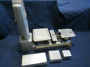 Vtg Toledo Speedweigh 5 Pound Scale Model 3012 With Calibration Bricks