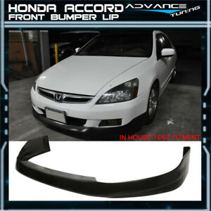 For 06 07 Honda Accord 4dr Sedan Front Bumper Lip Hfp style Urethane