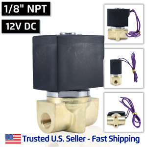1 8 12v Dc Electric Brass Solenoid Valve Water Air Gas 12 Volt Free Shipping
