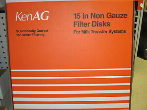 Milk Filter Strainer 15 Inch Disk Dumping Station Box Of 100 Ken Ag new