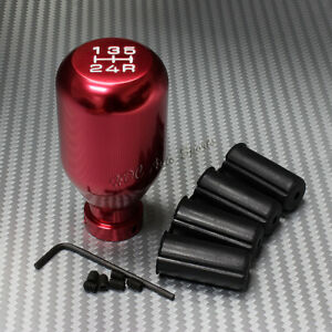 For Toyota Mazda Universal Jdm Type R Style Red 5 Speed Manual Mt Shifter Knob