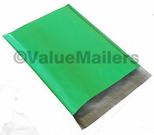 1000 14 5x19 Green Poly Mailers Shipping Envelopes Couture Boutique Quality Bags
