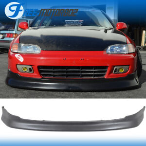 For 92 95 Honda Civic 2dr 3dr Cs Style Front Bumper Lip Bodykit Urethane