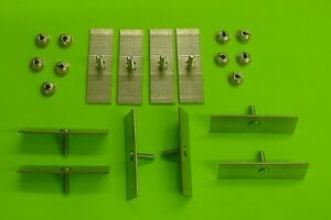 10 Plymouth Body Side Moulding Fasteners 2 1 2 X 3 4 Perforated Clips Bolts 378