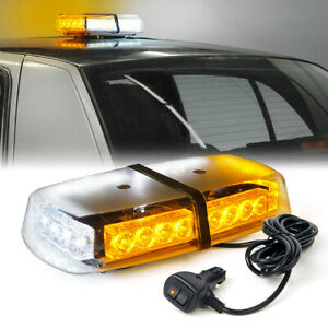 240 Led Roof Top Emergency Beacon Hazard Flash Strobe Mini Light Bar Amber