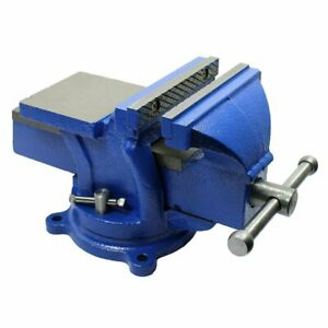 5 Bench Vise With Anvil With Swivel Locking Base Heavy Duty All Steel