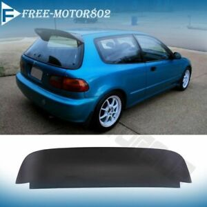 For 92 95 Honda Civic 3dr Eg Eh Spoon Duckbill Style Rear Roof Spoiler Wing