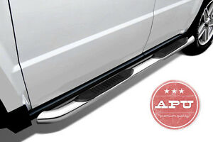 Apu 2008 2013 Jeep Liberty Stainless Side Steps Running Boards Nerf Side Bars