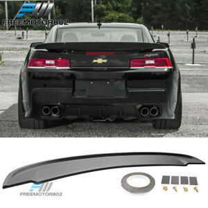 Fits 14 15 Chevrolet Camaro Flush Mount Oe Style Trunk Spoiler Wing Unpainted