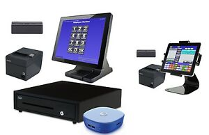 New 2 Station Blackfish Bar Restaurant Pos System Touch Windows 8 1 With Tablet