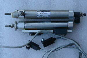 Smc Pneumatic Cylinder Cdj2kb16 60r f7 Lot Of 2